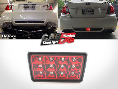 Red Lens F1 Style LED Rear Fog Light Brake/Tail Fits Subaru Impreza WRX STi XV