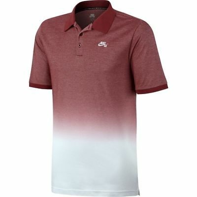 a735c3ff NIKE SB DRY Polo Fade Red White Sz Large 829521-677 - $48.00 | PicClick