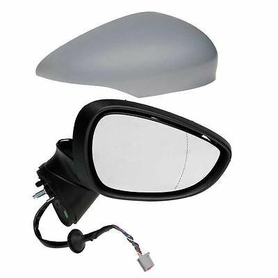 Ford Fiesta Mk7 2008 - 2012 Electric Wing Door Mirror Primed Right Drivers Side