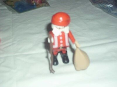 Playmobil :  Father Christmas Figure With Sack And Stick. Brand New