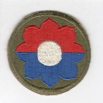 WW 2 US Army 9th Infantry Division Patch Inv# Y989