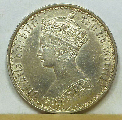 Great Britain Gothic Florin 1855 Extremely Fine
