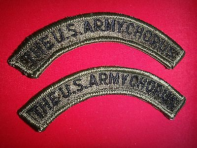Set Of 2 Merrowed Edge Subdued Arcs THE U.S. ARMY CHORUS Patches