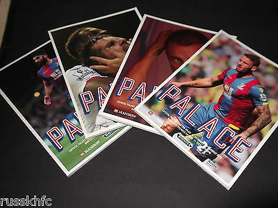 Crystal Palace Home Programmes 2015/16 - Choose From