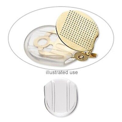 100 Clear Soft Plastic 13.5x12mm Clip On Earring Clip-Slip Comfort Pads