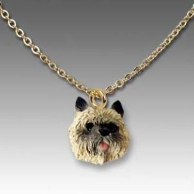 Dog on Chain CAIRN TERRIER BROWN Dog Necklace