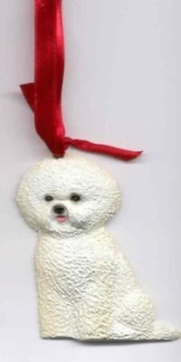 Sitting BICHON FRISE Unbreakable Poly Christmas Ornament