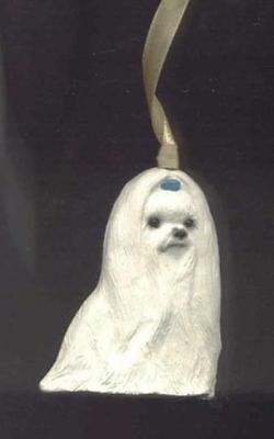 Sitting MALTESE Unbreakable Poly Christmas Ornament