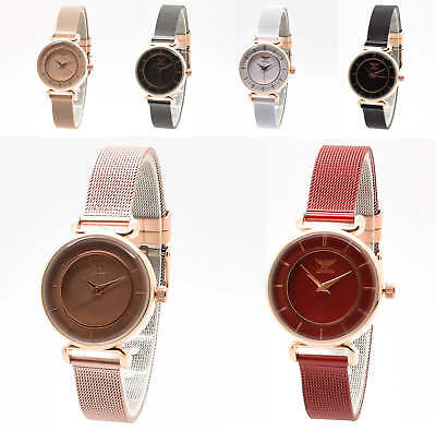 a081f2f8315 Ladies Luxury Slim Wrist Watch Stainless Steel Band Designer Ny London Gift