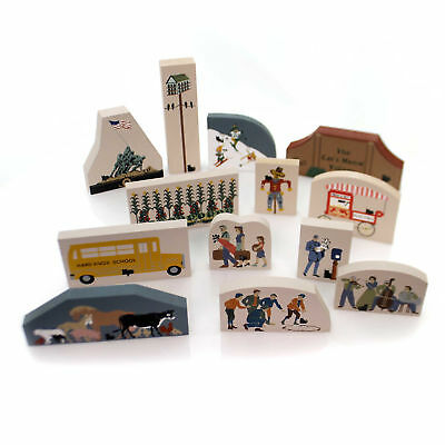Cats Meow Village 1991 ACESSORY SET / 13 Wood Accessory Retired 1991 Set/13