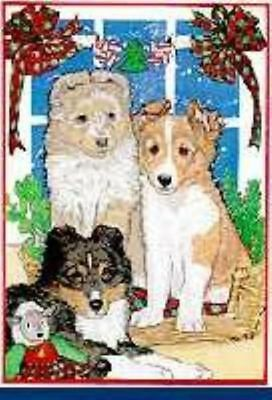 Ten Cards Pack SHELTIE SHETLAND Dog Breed Christmas Cards USA made