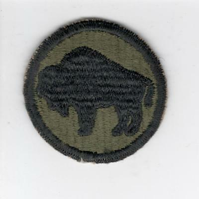 WW 2 US Army 92nd Infantry Division Ribbed Weaved Patch Inv# Z069