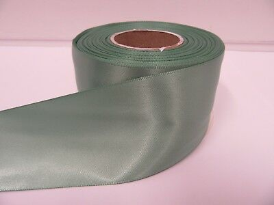 3mm 7mm 10mm 15mm 25mm 38mm 50mm Fresh Sage Green Satin Ribbon double sided Roll