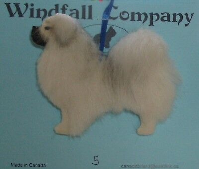 Tibetan Spaniel Dog Plush Christmas Canine Ornament # 5 by  WC