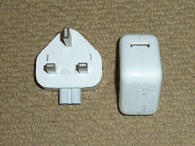 Apple Ipad Iphone 10W Usb Power Adapter Genuine Official Uk Mains Charger A1357
