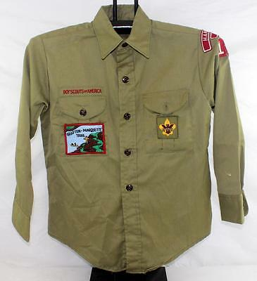Vintage Official Boy Scout Shirt Hannibal, Missouri Home of Mark Twain