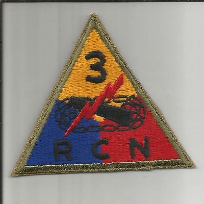 WW 2 US Army 3rd Armored Reconnaisance Battalion Patch Inv# JR482