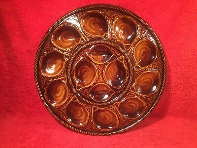 Antique Majolica Master Oyster Platter St. Clement, France, op371 GIFT QUALITY!