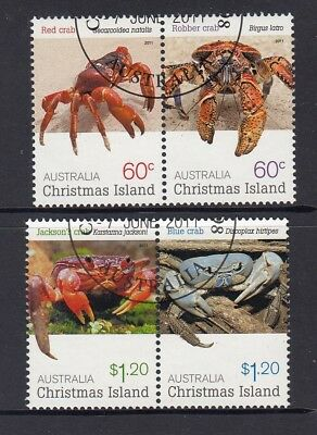 CHRISTMAS Island 2011 CRABs  design set of 4 VFU - Wildlife / Marine life.