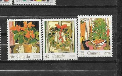 pk31515:Stamps-Canada #1148-1150 Christmas Set - Mint Never Hinged