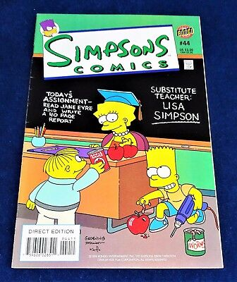 "Bongo Comics  The ""simpsons"" #44""  Comic  1999"