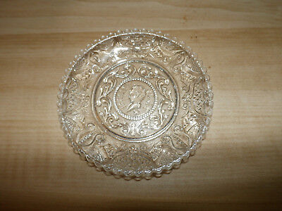 Boston & Sandwich Clear Glass Cup Plate Henry Clay