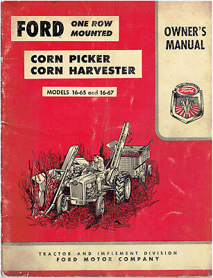 Ford One Row Mounted Corn Picker Owner's Manual