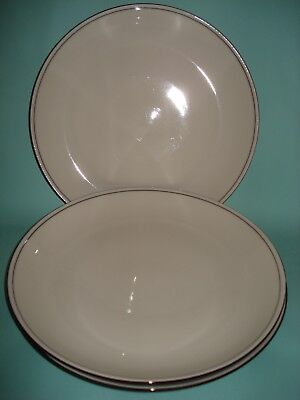 "3 X Denby Black Bistro Large 10.75"" Dinner Plates Very Good Condition"