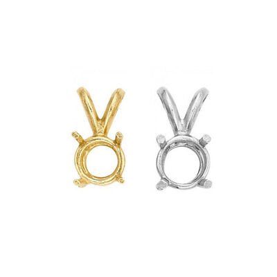 Solid 10kt gold round 4 prong solitaire basket pendant settings for 4 prong round solitaire pendant basket settings real 14k yellow white gold aloadofball Gallery