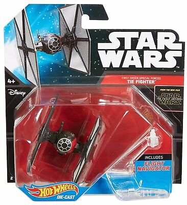 Hot Wheels Star Wars Die-Cast Starship - First Order Special Forces -Tie Fighter
