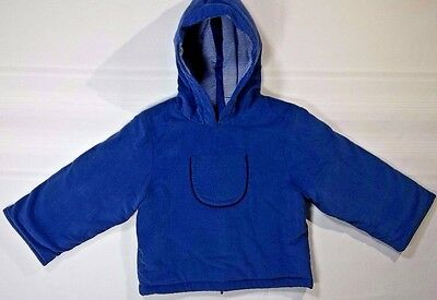 New Blue Busy Bees Corduroy Hooded Jacket Coat Puffy Warm Lined NWT's