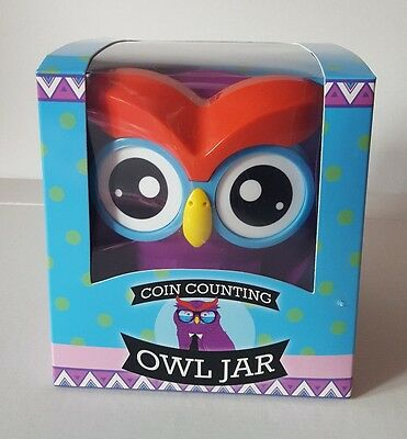 New Owl Smart Piggy Bank Digital Automatic Counting Coin Bank Money Jar Box