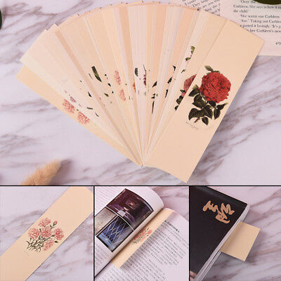 30x Chinese style bookmark Flower paper bookmark originality school gift card HF