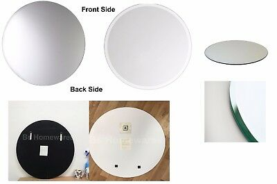 Frameless 60 cm Large Bathroom Mirror with Bevelled Edge Round Real Mirrors