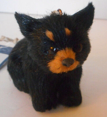 Adorable! Bear ornament Christmas holiday faux fur new with tags