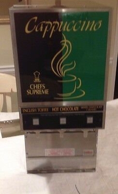 Grindmaster  Cappuccino Hot Chocolate Machine Pic3 3 Flavor Powdered Specialty