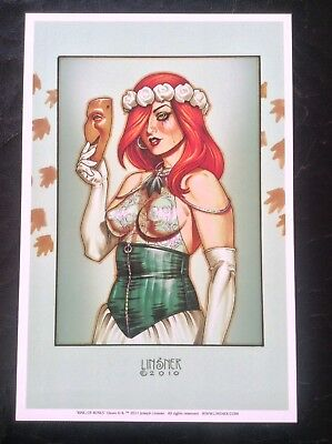 DAWN Limited Edition PRINT Joseph Linsner Fantasy Art Comic Ring Of Roses Erotic