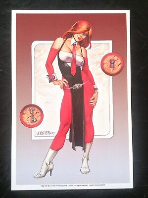 DAWN Limited Edition PRINT Joseph Linsner Fantasy Art Comic Red Tie Erotic Woman