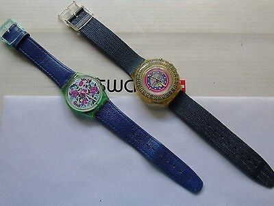 Lot Of 2 Vintage Swatch Watches   Rare  L@@k  Top Wow