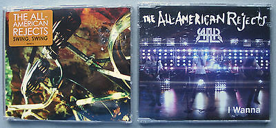 All American Rejects 3 CD Lot UK Swing Swing 4trk + Wanna 3trk + Move Along Full