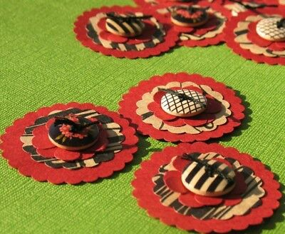 Roxy Roller - Button Scrapbooking Embellishments