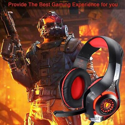 Gaming Headset Mic Stereo Surround Headphone 3.5mm Wired For PS4 Xbox PC PS3 MAC