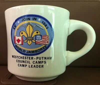Vintage 1983 Boy Scout Coffee Mug XV JOIN IN WORLD JAMBOREE