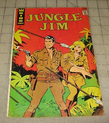 JUNGLE JIM #5 (September 1967) Mid-Grade Condition Comic - King Reprint