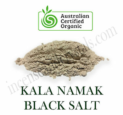 50g KALA NAMAK ORGANIC AYURVEDIC FINE BLACK SALT 100% Natural Vegan essentials