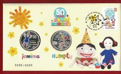 2016 Australia PNC 50 Years of Play School Jemima and Humpty 50c Coins