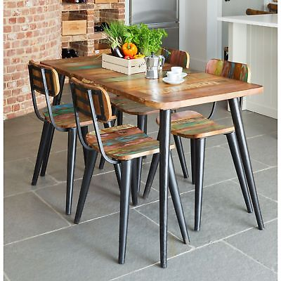 Coastal Chic Small Dining Table And Four Chairs Set Indian Wood Furniture