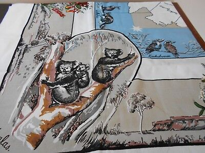Vintage New Never Used Koala Bears Map Of Aus Tablecloth Stunning Colors Lovely