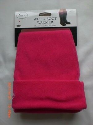 Ladies Pink Welly Warmers, Briers Ladies Wellington Boot Liners One Size