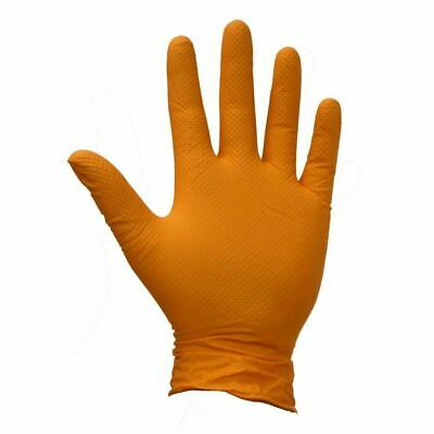 Polyco Finite Orange HD Bodyguard Nitrile PF Reusable Gloves XL Size(10)-Pack 90